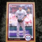 MATT GARZA Rays 2010 Bowman Gold Baseball Card #109