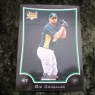 2009 GIO GONZALEZ Oakland A's Bowman Rookie RC Baseball Card #BDP52