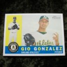 2009 GIO GONZALEZ Oakland A's Topps Heritage Rookie RC Baseball Card #101