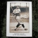 GEORGE SISLER St. Louis Americans 1921 Reprint National Caramel Baseball Card #CMGR-9