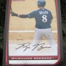 2008 Ryan Braun Bowman Baseball Card #1