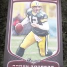 Aaron Rodgers 2009 Bowman Football Card #6 Green Bay Packers