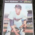 1971 BERT BLYLEVEN, Twins -Topps Baseball Card # 26 Rare Find