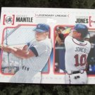 Mickey Mantle  & Chipper Jones 2010 Topps Legendary Lineage Baseball Card #LL2