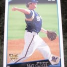MATT GAMEL RC 2009 Topps Baseball Card #71 Rookie Milwuakee Brewers