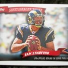 Sam Bradford Rookie RC Rams 2010 Topps Peak Performance Football Card # PP1