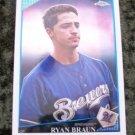 Ryan Braun 2009 Topps Baseball Card #75
