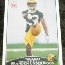 2009 BRANDON UNDERWOOD Packers Topps Football Card # 344 Rookie RC