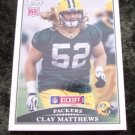 Clay Matthews Packers Rookie 2009 Topps Football Card #140