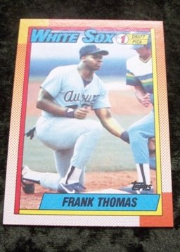 Frank Thomas Rookie RC 1990 Topps Baseball Card #414