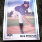 Evan Anundsen Rookie RC Brewers 2010 Bowman Chrome # BCP67