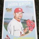 Jaime Garcia Cardinals Rookie RC 2008 Topps Heritage Card # 717
