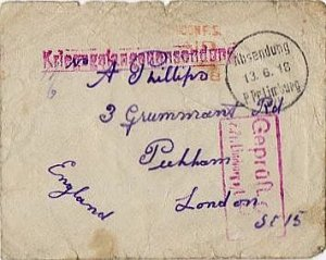 GERMANY: British POW Cover WWI Lindbergh to London 1918