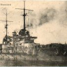 GERMANY WW I SMS Rheinland Picture Postcard: Kriegsmarine Navy Mail 1915