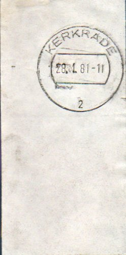 NETHERLANDS Kerkrade Postmark Cancel 1981