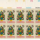 UNITED STATES Scott #1508 8-c Christmas Tree 1971 Plate Block + MAIL EARLY