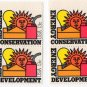 UNITED STATES Scott 1723-1724 Two Blocks of Four/Plate #/13-c Energy Conservation/Development 1977