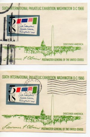 USA Scott #1311 6th Int Philatelic Exhibition Used Lot of 2 LAWNDALE, CA Cancel Postmark