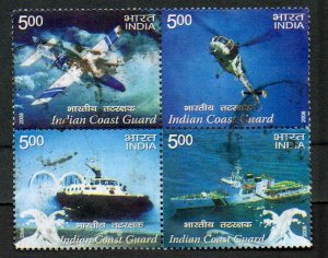 INDIA Indian Coast Guard Block of 4; Scott #2252