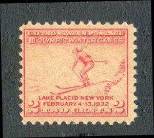 United States Scott #716 carmine-rose 2-c Olympic Winter Games Lake Placid, New York 1932 MH