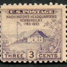 United States Scott #727 3-c Washington's Headquarters Newburgh, NY 1783-1933 MH