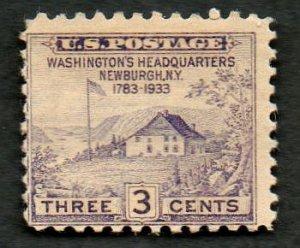 United States Scott #727 3-c Washington's Headquarters Newburgh, NY 1783-1933 MH
