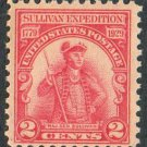 US Scott #657 Carmine-Rose 2-c Major General Sullivan Expedition 1929 MNH F-VF
