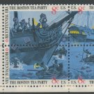 United States Scott #1480-1483 Boston Tea Party Se-Tenant ZIP Block  1973 MNH