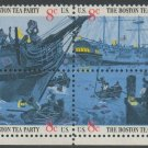 United States Scott #1480-1483 Boston Tea Party Se-Tenant Block of Four Selvage on Bottom 1973 MNH