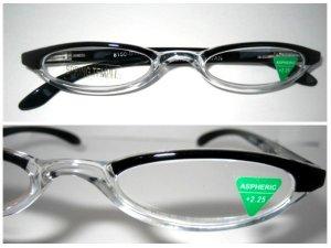 High Quality Reading Glasses 8150-DT12 upper black +2.25