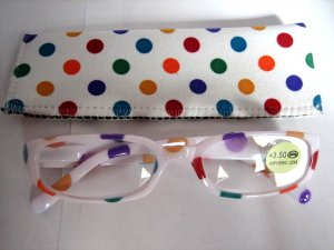 High Quality Reading Glasses 8301-5013 Polka Dot +3.50