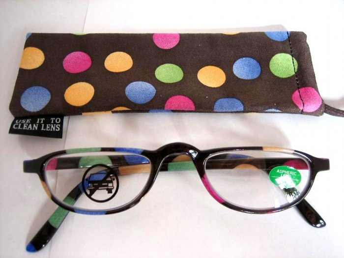 High Quality Reading Glasses 8113-5009 Polka Dot +1.25