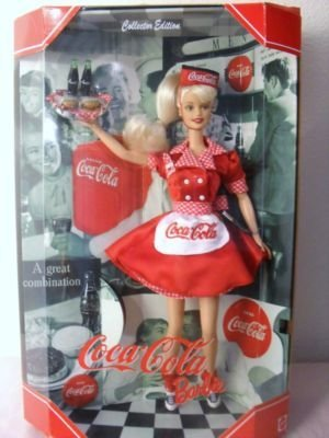 1998 Collector Edition Coca Cola Blonde Car Hop Barbie!