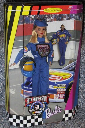 50th Anniversary Collector Edition NASCAR Barbie