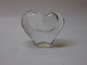 Heavy Lead Crystal Heart Vase Hand Crafted in Brazil