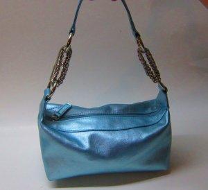 Adorable Silver and Sky Blue Poppie Jones Handbag