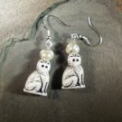 Holy Cat! Saint Tabby Cat Earrings - We Do No Wrong!
