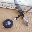 Agate and Amethyst Gemstone Beaded Bookmark Jewel Book Thong