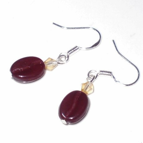 Coffee Bean Earrings for Espresso or Coffee Lovers