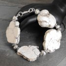 Stone Slab Bracelet Off-White