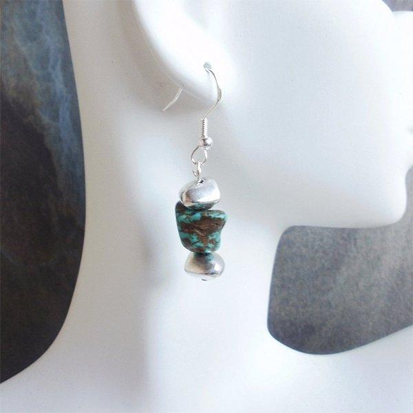 Southwestern Turquoise Nugget Earrings