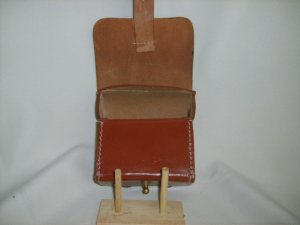 Leather Cylinder Box - Brown