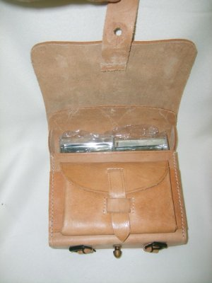 Leather Cartridge Box - Natural