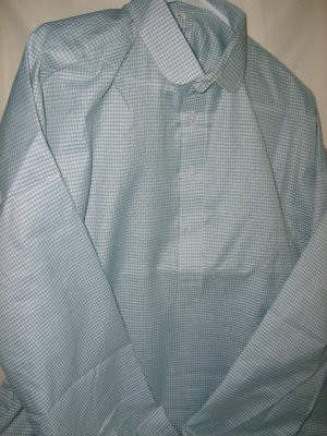 Checkered Cotton Shirt - Light Blue size XL