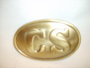 Modern Belt Buckle - Oval CS