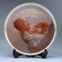 Baptism Plate with Stand 11280