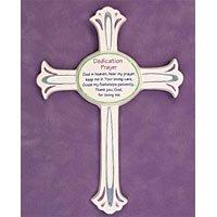 Dedication Day Ceramic Cross 37563