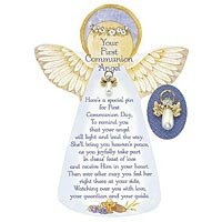 First Communion Angel Pin & Card 09060