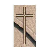 Wall Cross SE04083 Walnut/Brass 8""