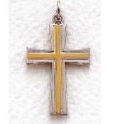"Mens Sterling Silver Cross (24"" chain) SX8043SH"